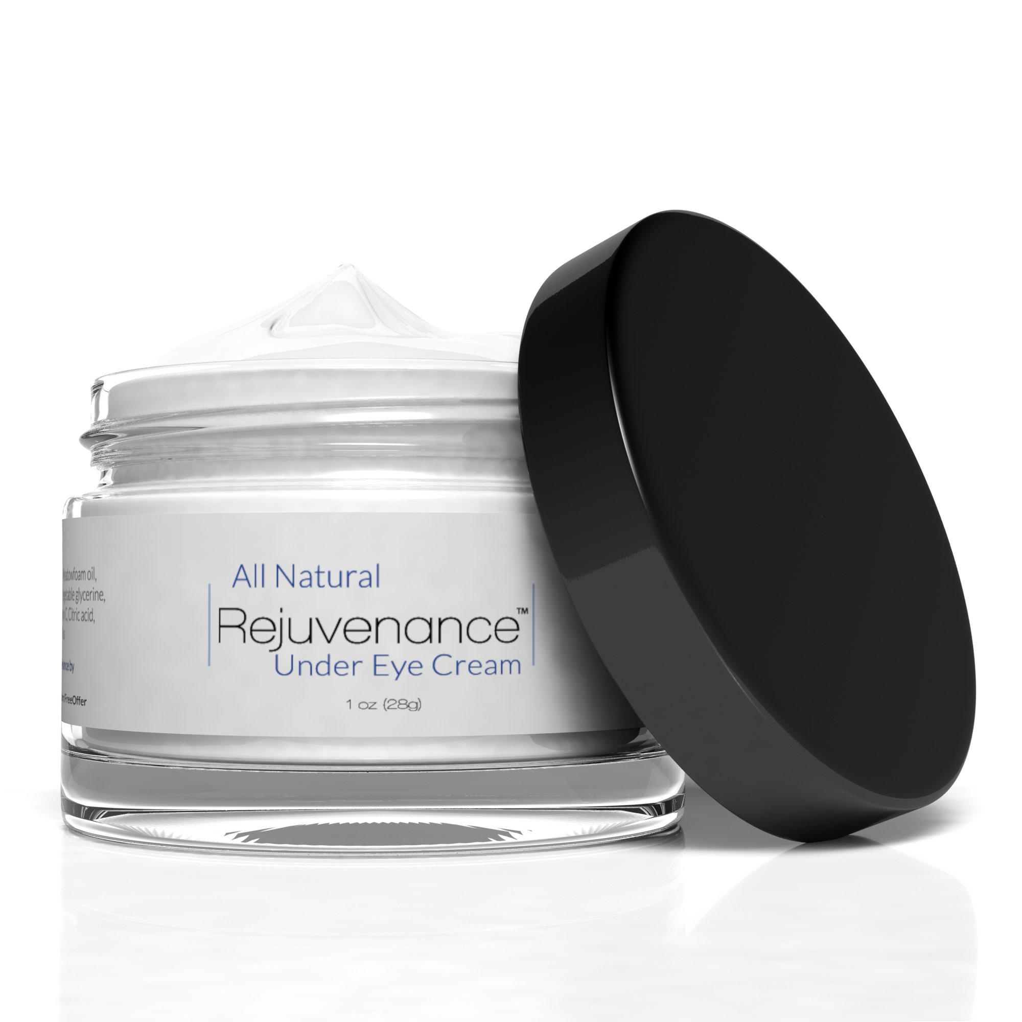 Rejuvenance - All-Natural, Clinical Strength Under Eye Cream - Removes Dark Circles, Lines and Wrinkles from Underneath Eyes Naturally - 1oz