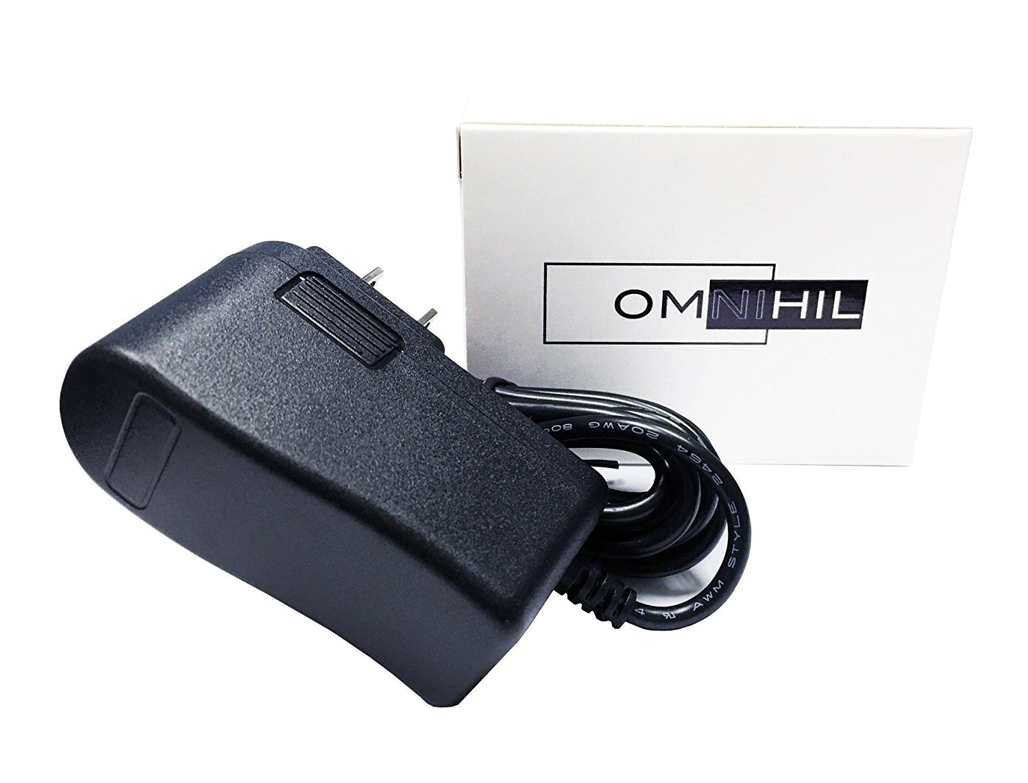[UL Listed] 8 Foot Long Omnihil AC/DC Power Adapter 12V 1A (1000mA) 5.5x2.5millimeters Compatible with LitterMaid LM680C Automatic Self-Cleaning Classic Litter Box by OMNIHIL