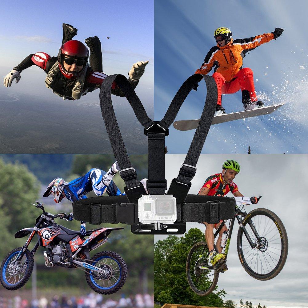 huitomo pecho cinturón correa deporte cámara de acción soporte correa para GoPro Go Pro HD Hero 1 2 3 3 + 4 SJ4000 Xiaomi yi 4 K H9 accesorios: Amazon.es: ...