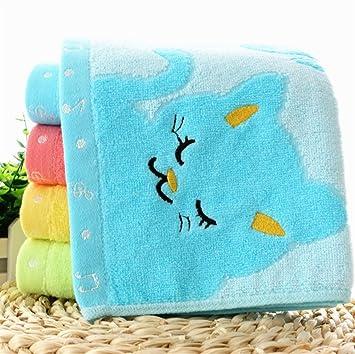 DDOQ Ligero 1PC Fibra Gruesa niños Cat Absorbente algodón Toalla de Mano baño Toalla de Cocina (Color : Azul): Amazon.es: Hogar