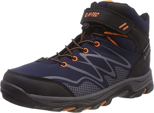 Hi-Tec Junior Blackout Mid Walking Shoes Black Sports Outdoors Trainers