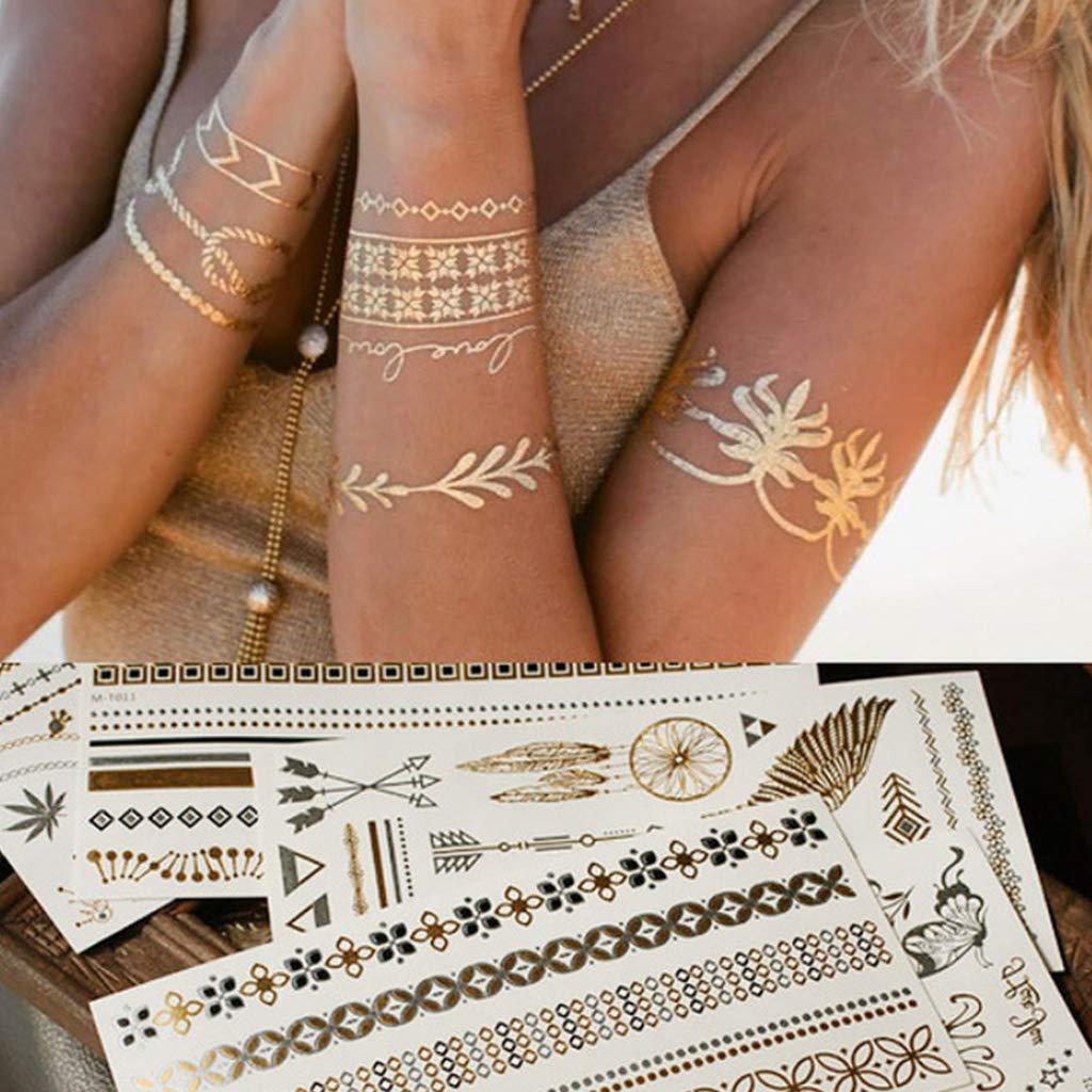 Huyiko - Bohemia para mujer o niño, diseño metálico, impermeable ...