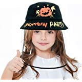 Kids Protective Hat with Full Face Shield, Detachable Bucket Hat, UV Protection Sun Cap for Boys Girls