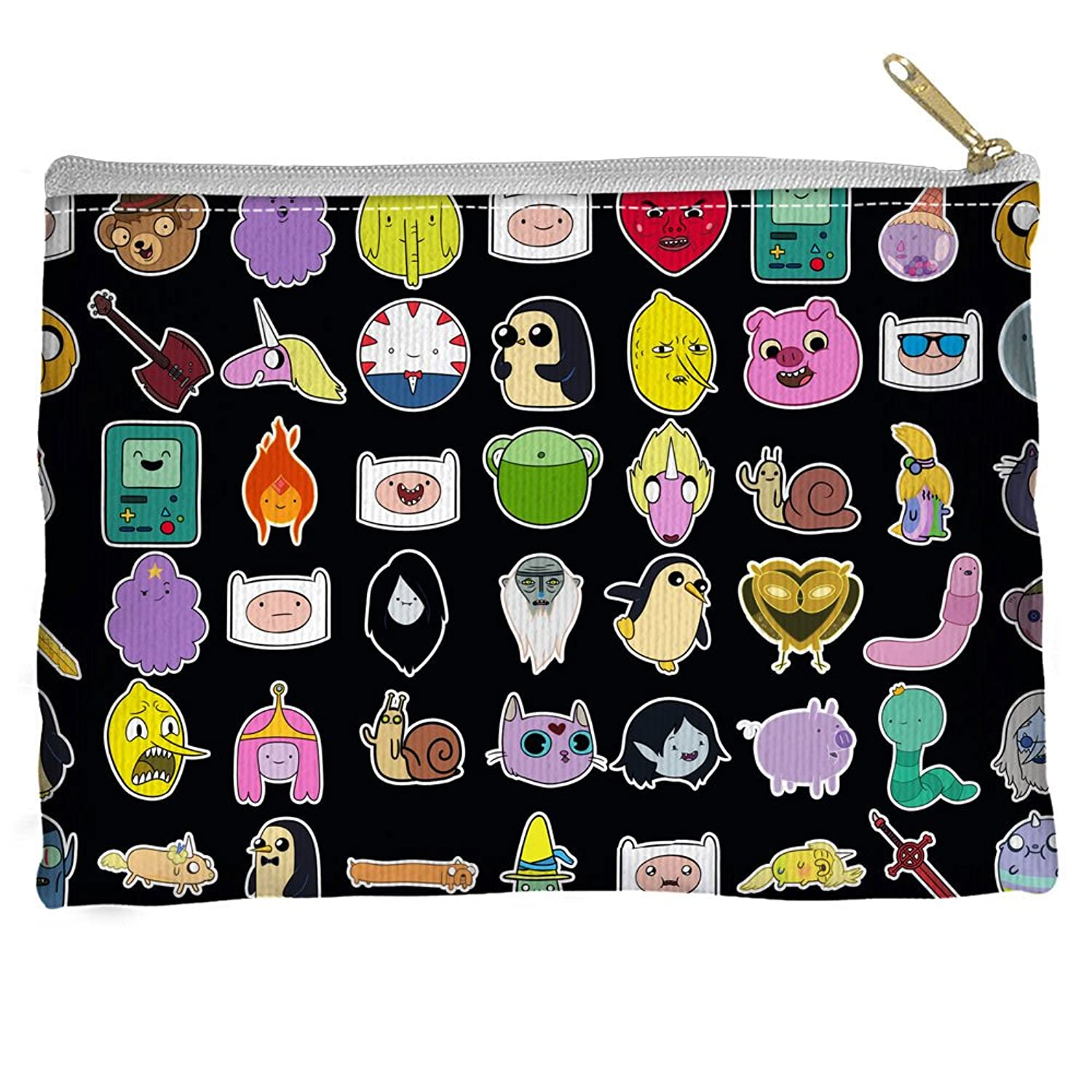 Adventure Time Stickers Accessory Pouch