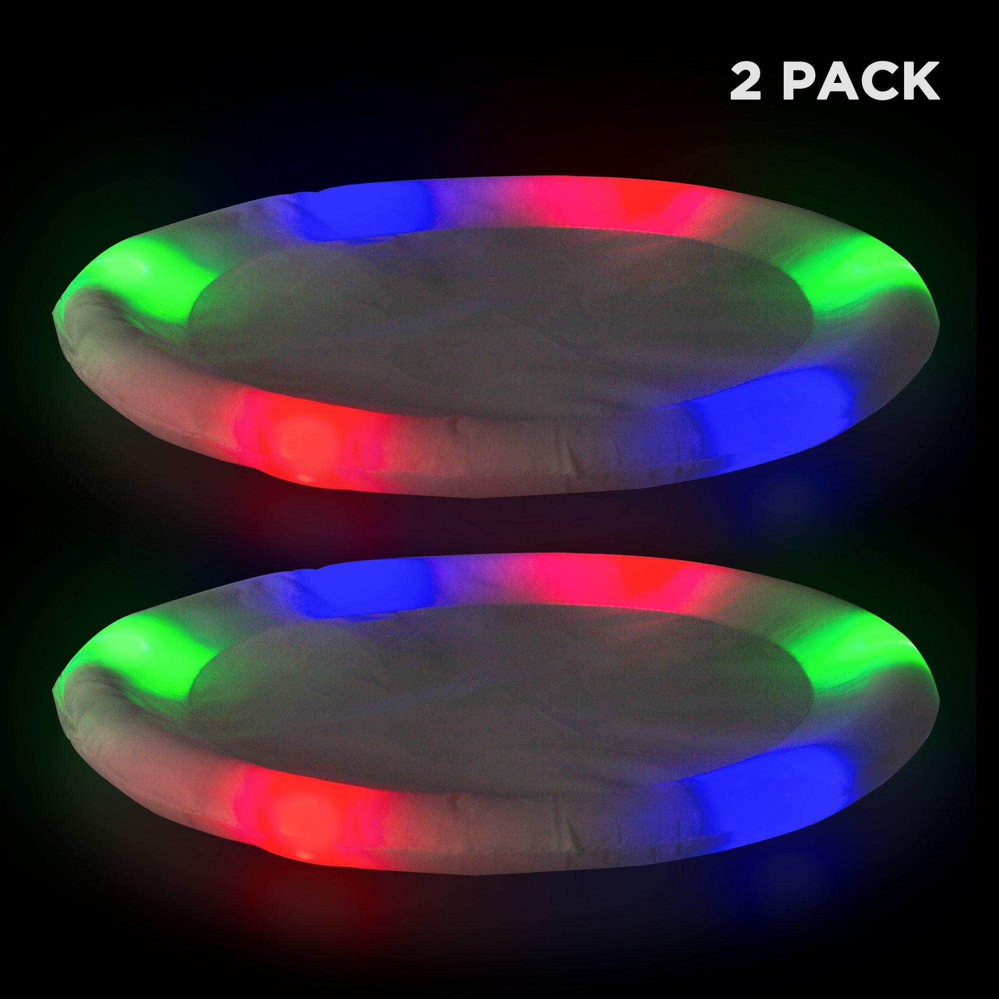 Windy City Novelties 2 Pack LED Flying Disc