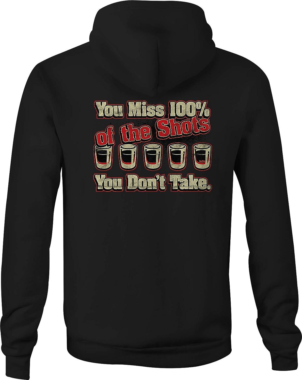 Zip Up Hoodie Miss Shots Drinking Hooded Sweatshirt for Men