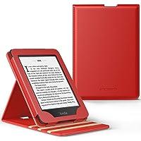MoKo Kindle Paperwhite E-reader Case, Copertura di Vibrazione Verticale Custodia per Amazon Kindle Paperwhite (10a Generazione, 2018 Rilascio) - Rosso