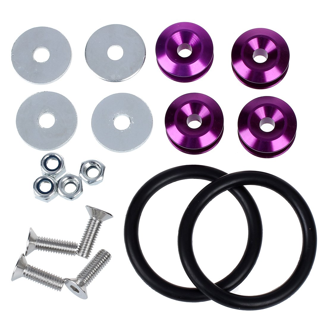 Bolt Loop - SODIAL(R) Purple Quick Release JDM Bumper Fender Trunk Fastener Screw Bolt Loop Ring Kit 059208A2