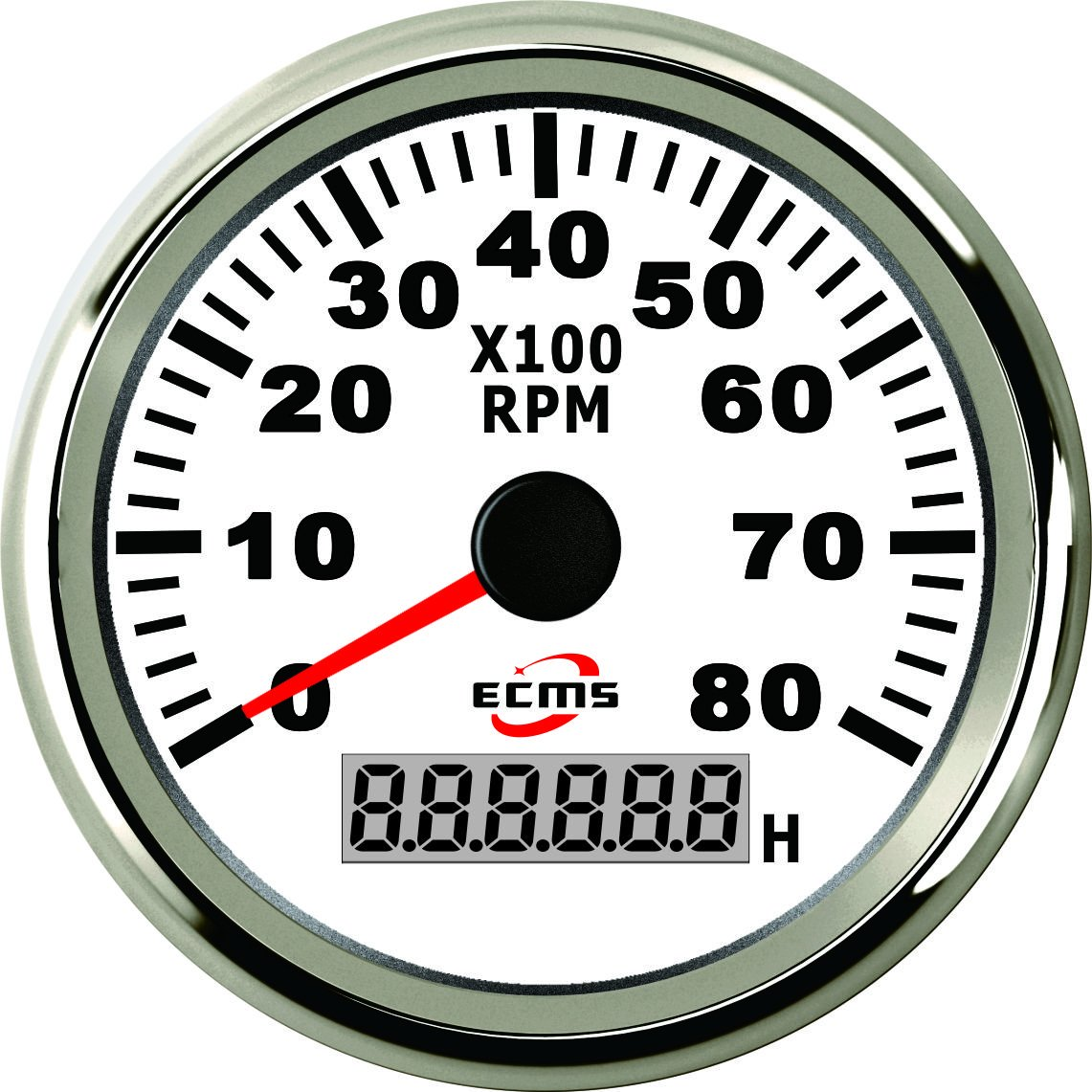 schwarz//chrom 8KRPM Bootshop24 Contagiri 8000/U//min