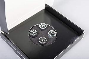 Genuine Mercedes Benz Black Style Valve Caps B66472002 (Set of 4)