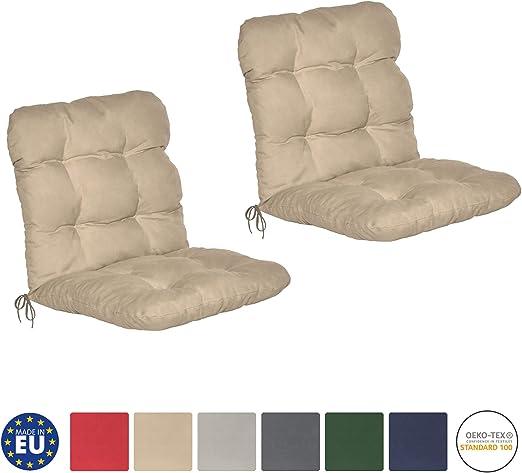 Beautissu Set de 2 Cojines para sillas de balcón Flair NL - Cojín ...