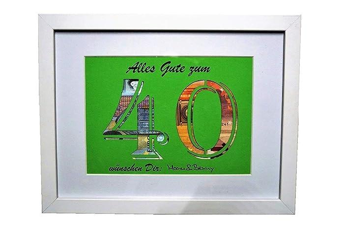 Geldgeschenk Zum 40 Geburtstag Farbe Wählbar