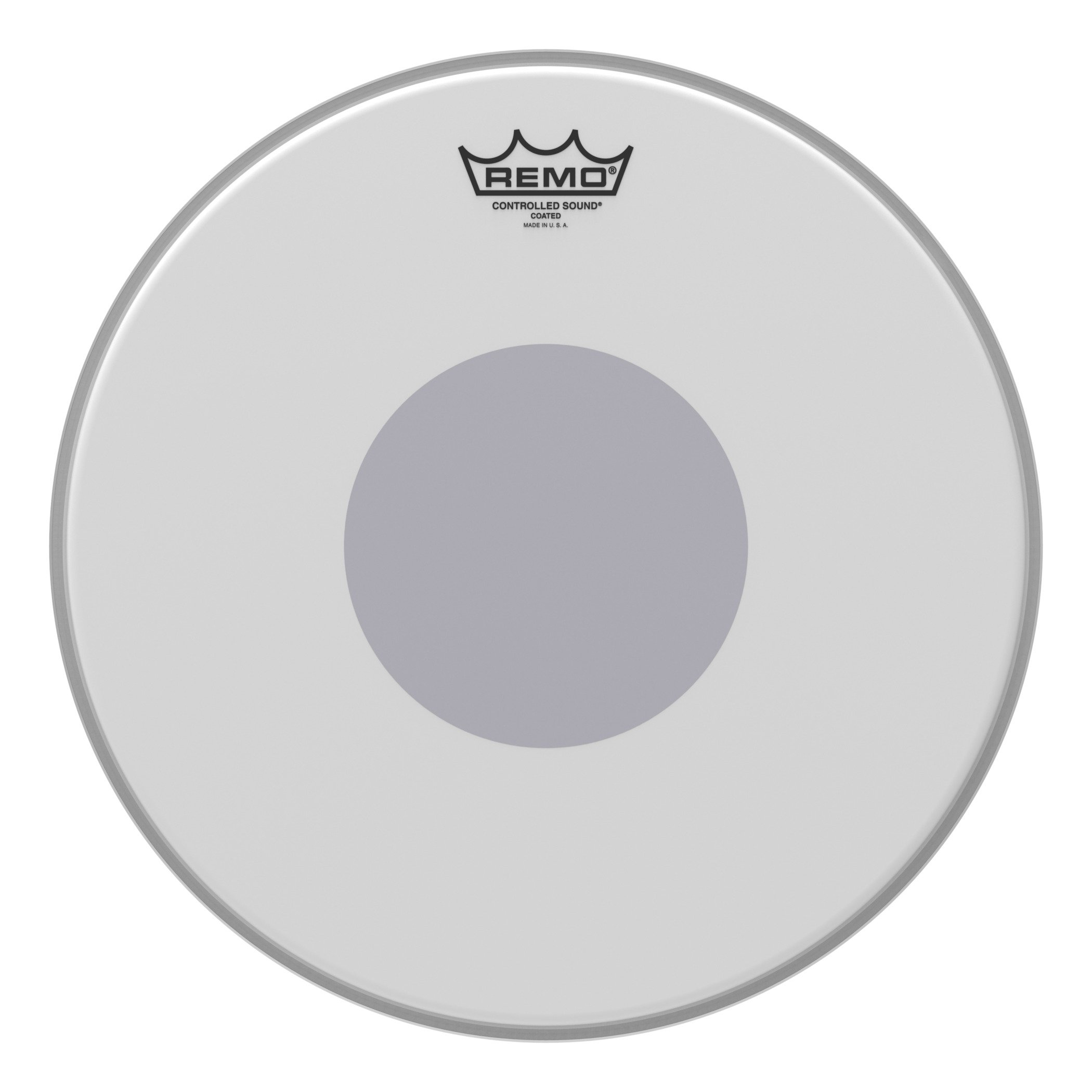 Remo Controlled Sound Coated Drum Head with Reverse Black Dot - 14 Inch