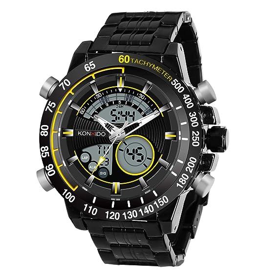 kossfer Hombres del reloj Pro Diver analógica Swiss Collection cronógrafo dial negro Big Face reloj para