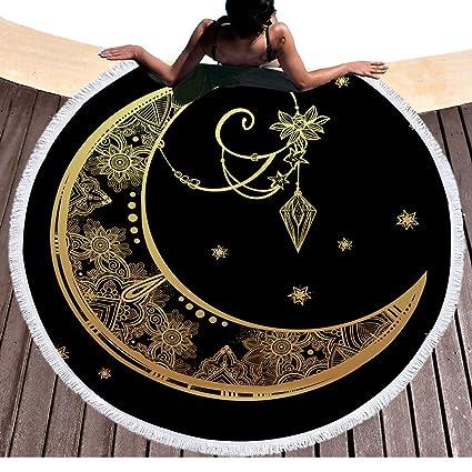 Mandala Goldmond Tribu Totem redondas Toallas con borlas flor luna redonda playa Techos boho tapiz hippie