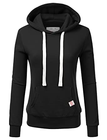 Doublju Basic Lightweight Pullover Hoodie Sweatshirt For Women at ...