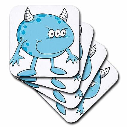 Buy 3drose Cst1022912 Funny Horned Light Blue Monster Creature