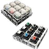 M.WAY Clavier Mécanique 9 Interrupteurs Cherry MX 9 Touches de clavier Kit de testeur