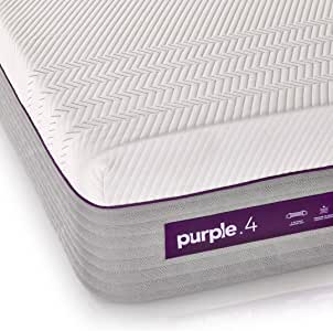 "The New Purple Mattress, with Soft 4"" Smart Comfort Grid Pad and Cooling Comfort-Stretch Cover (Twin XL)"