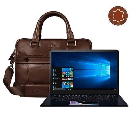 Funda Bolsa Maletín portátil para ASUS ASUS ZenBook Pro 15 en Marrón Cuero