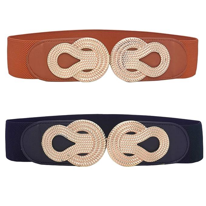 Amazon.com: HaoPiDai - Cinturones elásticos para vestido ...
