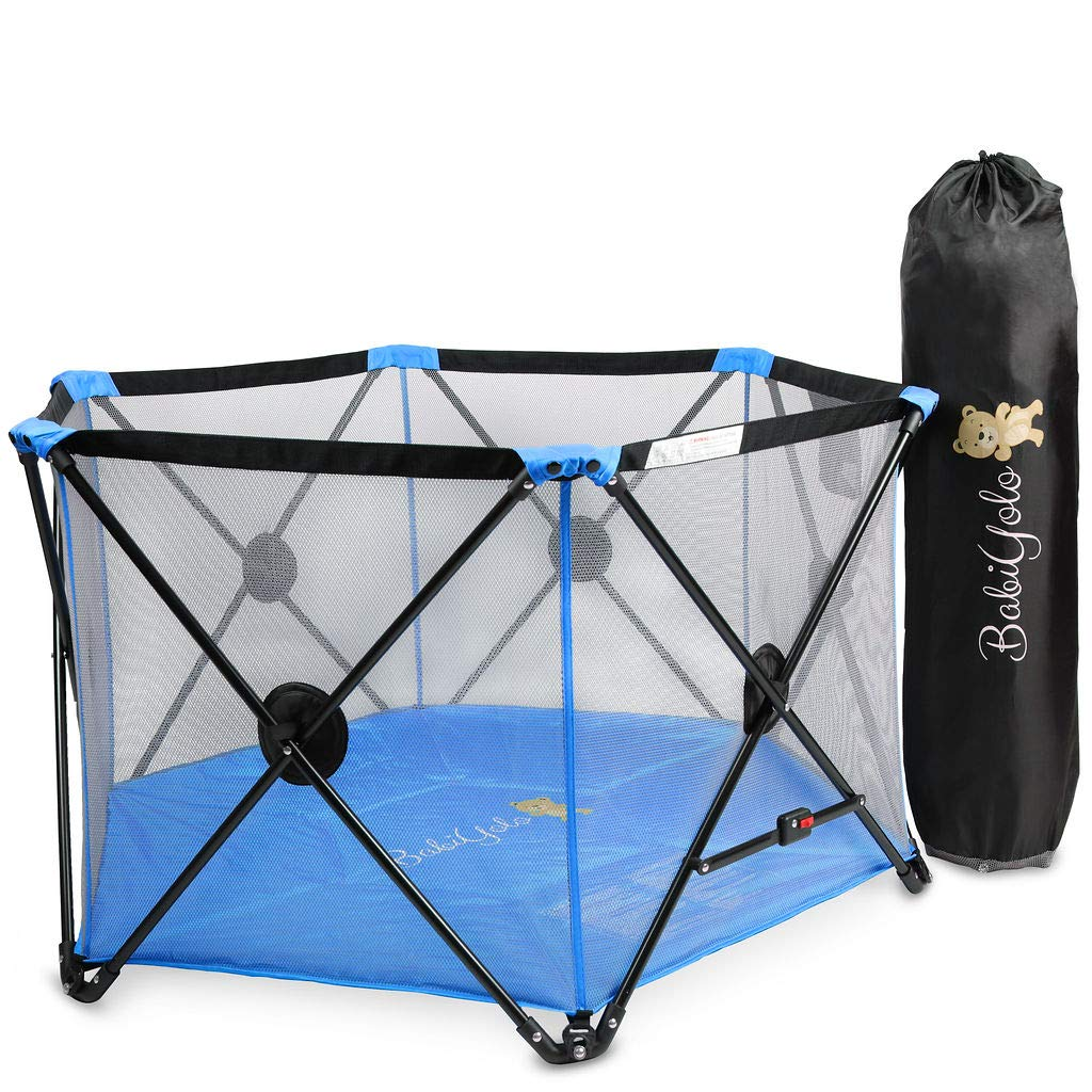 Baby Pack and Play Playpen Yard Portable Travel Play Pen for Babies – Blue