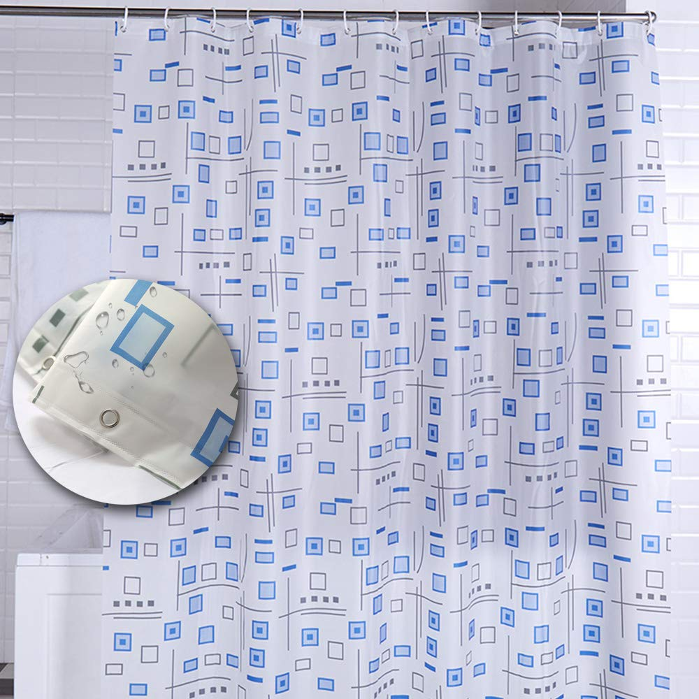 Yuclock PEVA Shower Curtain Waterproof Thickening Anti-Moisture Partition Curtain, Diverse Grid, 180X 240cm, Include Hook