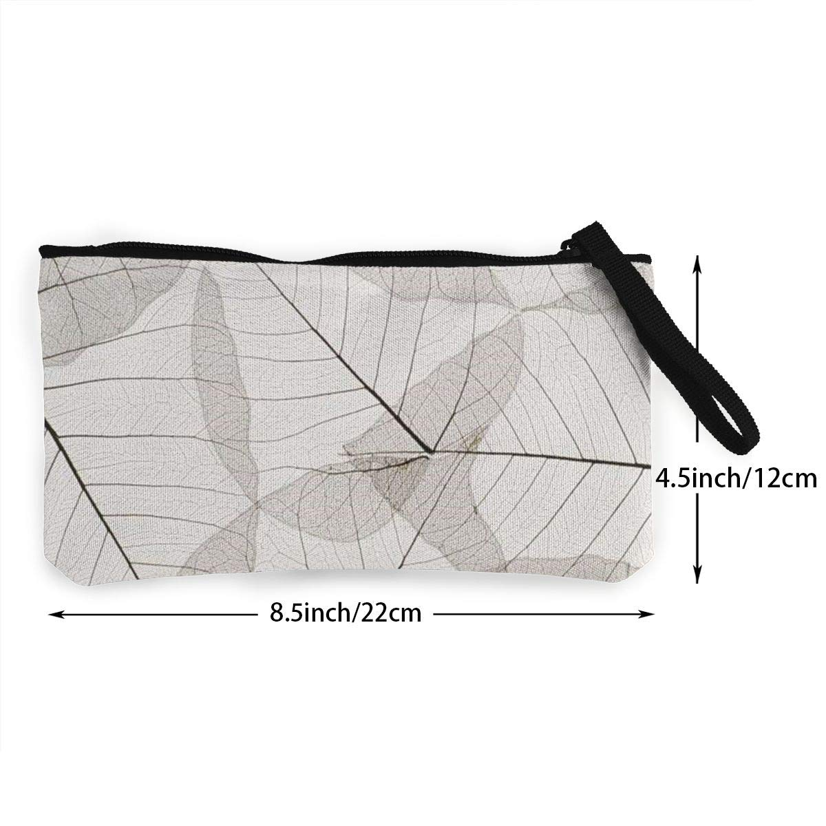 Cellphone Bag With Handle DH14hjsdDEE Leaf Texture zipper canvas coin purse wallet Make Up Bag