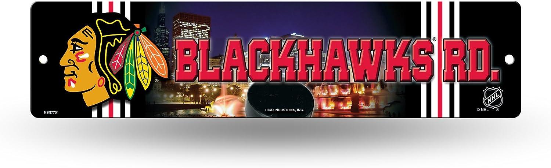 Rico NHL Chicago Blackhawks High-Res Plastic Street Sign
