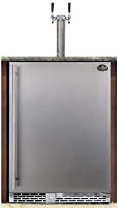 Beer Meister dual tower with stainless door built-in kegerator - Premium Series