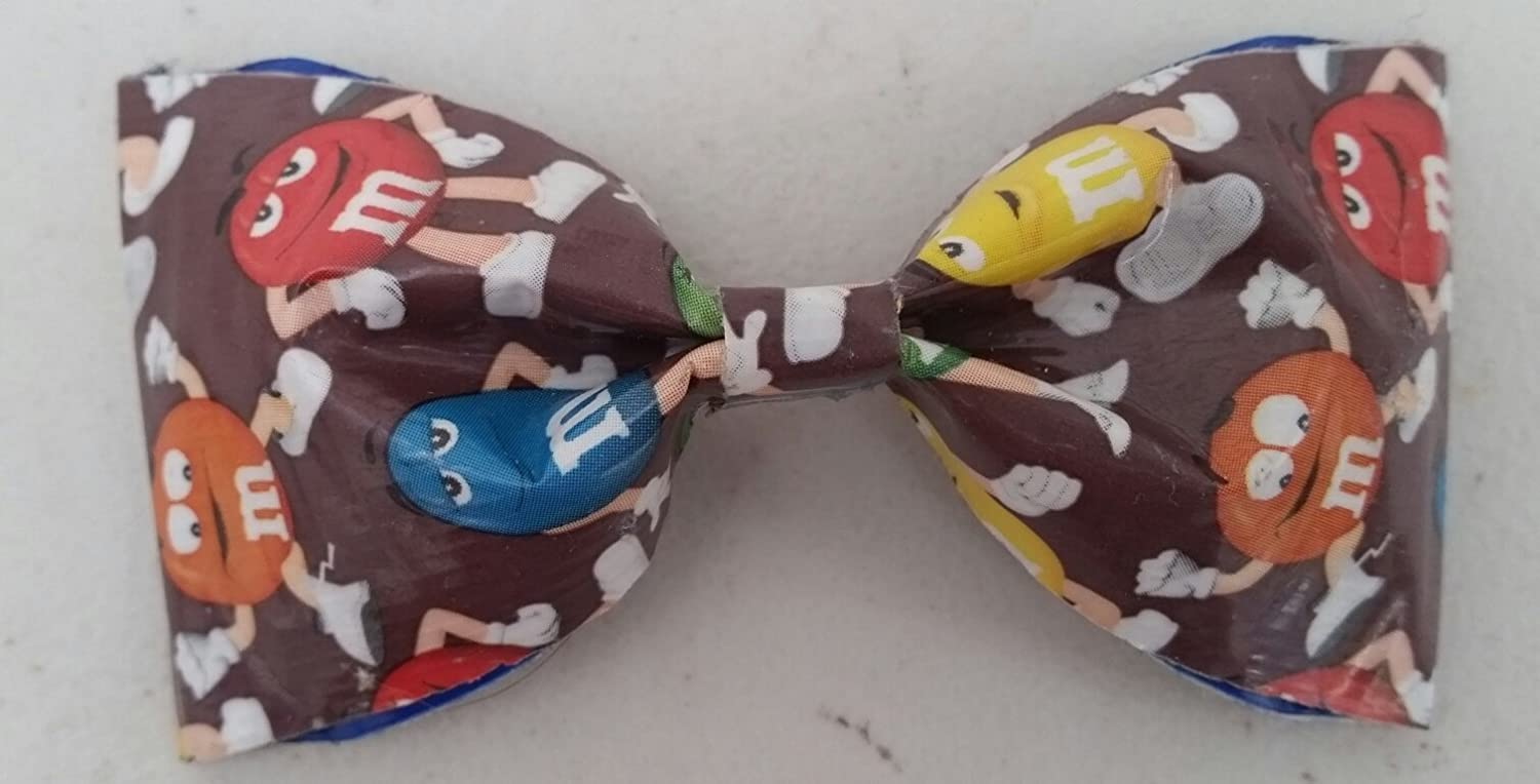 M&M Bobby Pin Hair Bow or Bow Tie