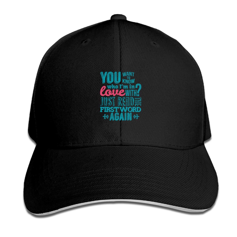 Gorra de béisbol para Mujer, con Texto en inglés Who Im In Love ...