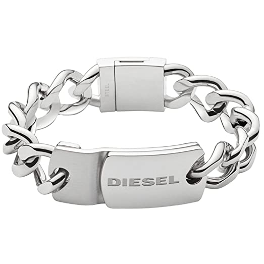 Diesel silver-toned hardware bracelet - Black KfYNgoK