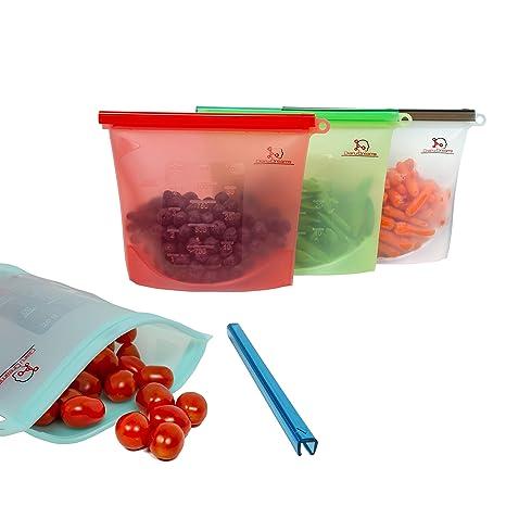 Amazon.com: Diaru Dreams, bolsas de silicona reutilizables ...