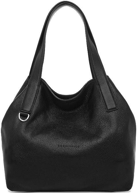 d0e806b299 Coccinelle Mila borsa a mano pelle 31 cm Black: Amazon.it: Scarpe e borse