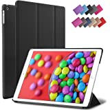 iPad Air Case, ROARTZ Black Slim Fit Smart Rubber Coated Folio Case Hard Shell Cover Light-Weight Auto Wake/Sleep For Apple iPad Air 1st generation Model A1474/A1475/A1476 Retina Display