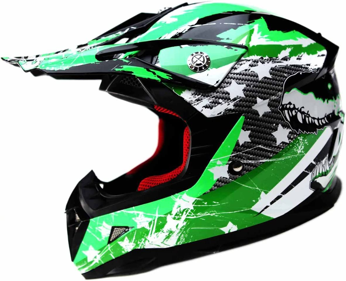 Motocross Youth Kids Helmet DOT Approved - YEMA YM-211 Motorbike Moped Motorcycle Off Road Full Face Crash Downhill DH Four Wheeler Helmet for Street Bike Dirt Bike BMX ATV Quad MX Boys Girls, Small
