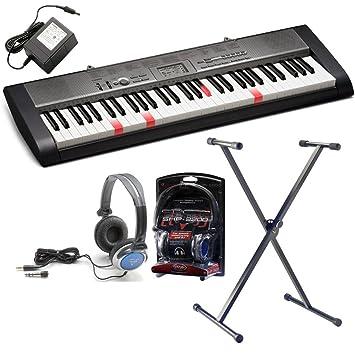 Nueva Casio LK-120 clave iluminación teclado + auriculares + Adaptador de CA Westmount® Soporte + producto exclusivo de música Westmount: Amazon.es: ...