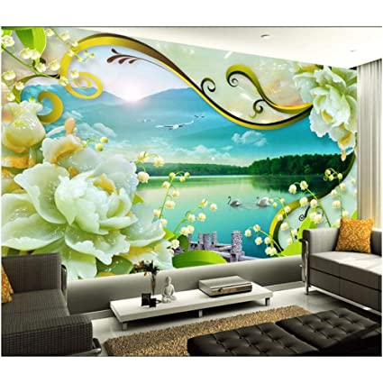 amazon com amazhen silk mural 3d wallpaper custom mural 3d roomamazon com amazhen silk mural 3d wallpaper custom mural 3d room wallpaper 3d landscape jade tv setting wall murals photo 3d wall mural wallpaper