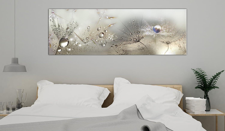 murando - Bilder Pusteblume 199x199 cm Vlies Leinwandbild 19 TLG Kunstdruck  modern Wandbilder XXL Wanddekoration Design Wand Bild - Blumen Natur grau