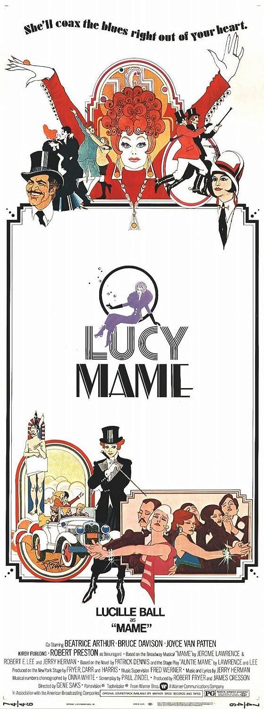 Amazon.com: Póster de película Mame B 11 x 17 Lucille Ball ...