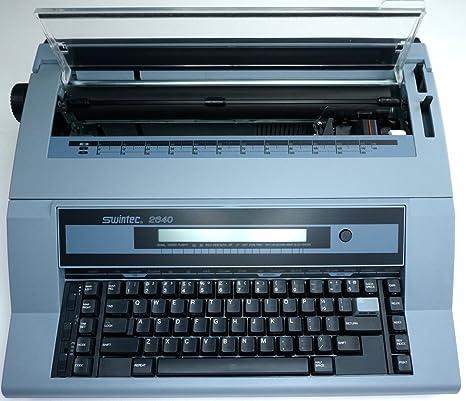 Marca nueva Swintec 2640i electrónico máquina de escribir con pantalla de cristal líquido y 128 K