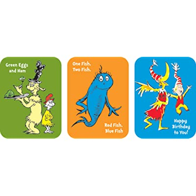 Eureka Back to School Dr. Seuss Book Stickers for Kids, 36pc, 1.31'' x 1.75'': Office Products