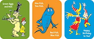 Eureka Back to School Dr. Seuss Book Stickers for Kids, 36pc, 1.31'' x 1.75''