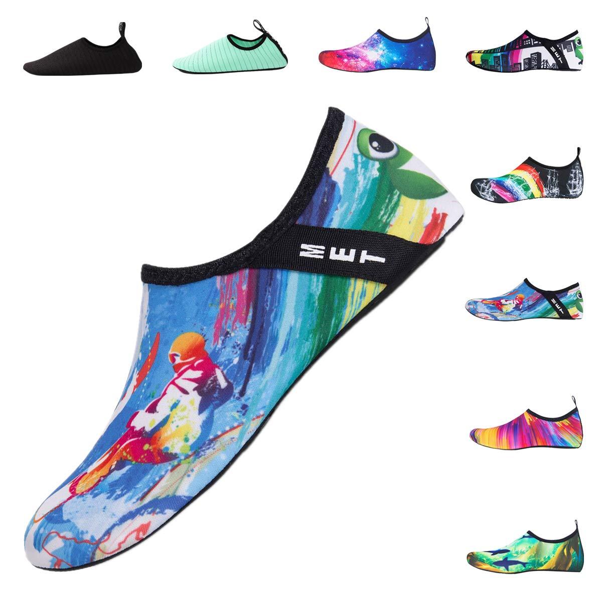 DoGeek Water Shoes Womens Mens and Kids Aqua Shoes Barefoot Quick-Dry Aqua Socks for Beach Swim Surf Yoga Exercise