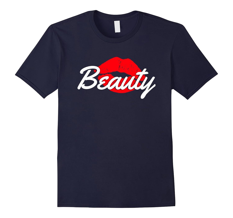 Beauty Lips Beast Scratch Couple T-Shirt  His  Her Shirt-CD