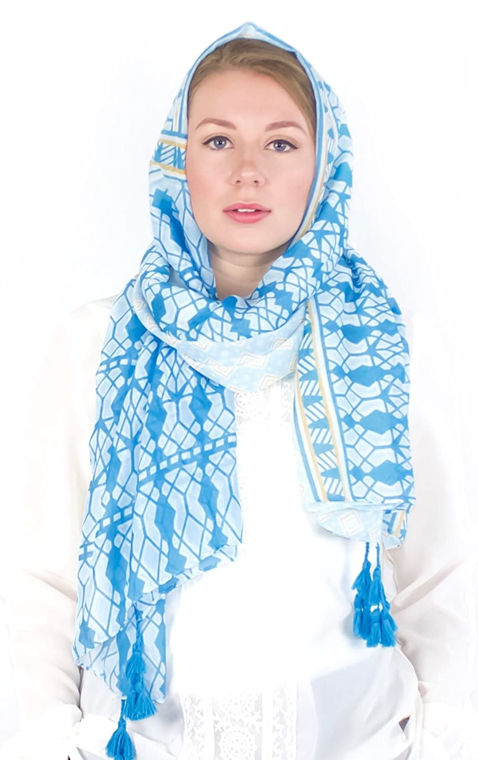 ÉCHARPE Women's Soft Scarf/Hijab with Tassels