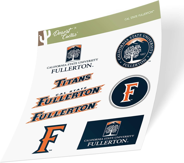 Cal State University Fullerton California CSUF Titans NCAA Sticker Vinyl Decal Laptop Water Bottle Car Scrapbook (Type 2 Sheet)