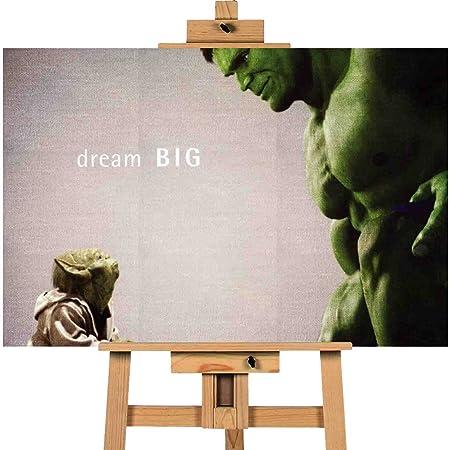 Large Yoda Hulk Think Big 20x30 Canvas Wall Art Print Long