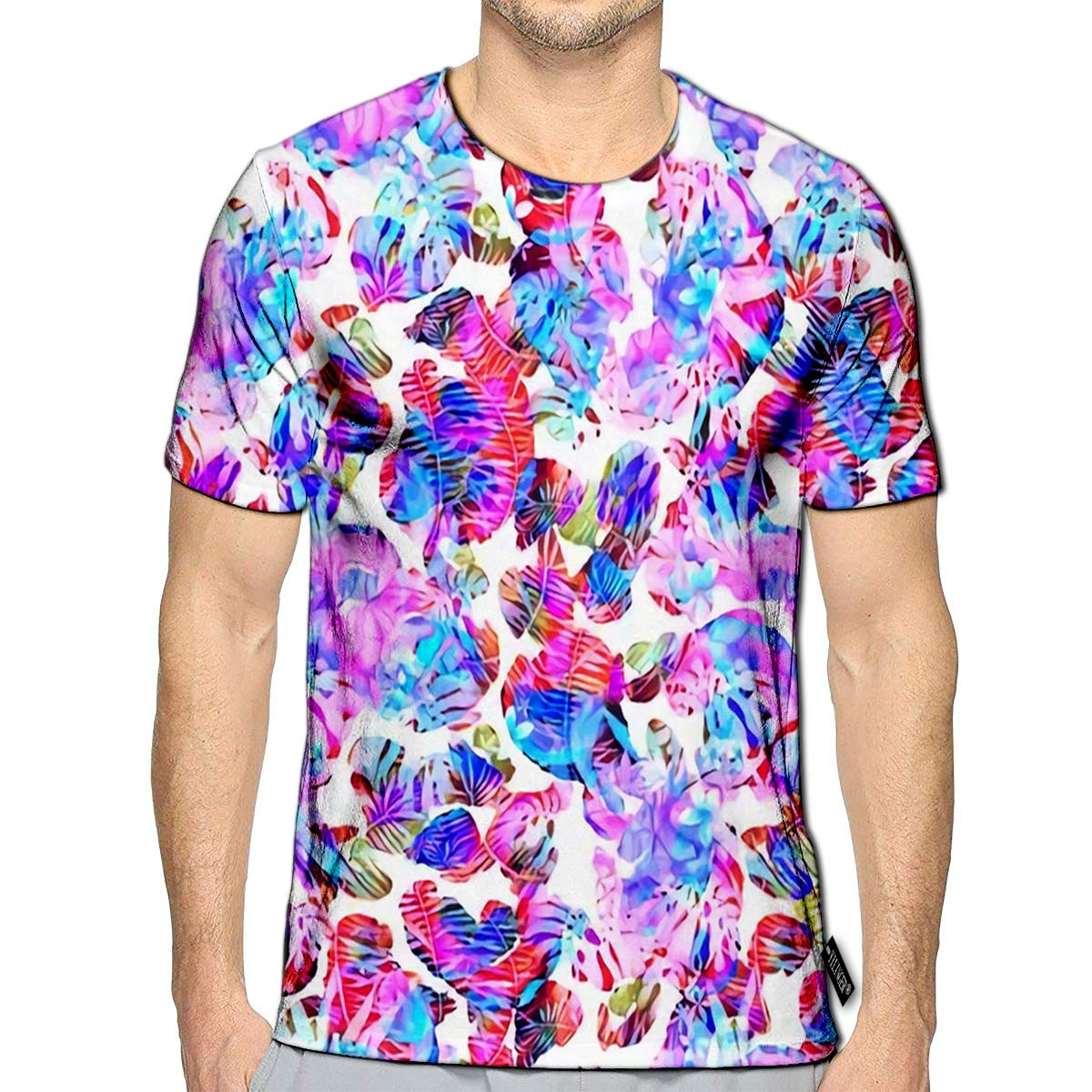 YILINGER 3D Printed T-Shirts Decorative Bananas Wild Leopard Coloring Dangerous Short Sleeve Tops Tees